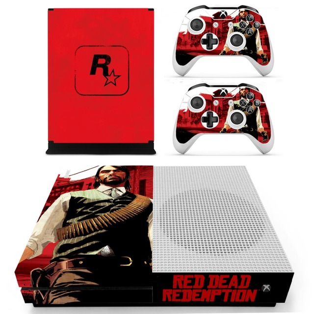 Red Dead Redemption Vinyl Skin Sticker For The Xbox One S Console With Two Wireless Controller