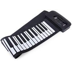 Черный + белый гибкий PA61 USB MIDI ролл-Ап Набор для фортепиано с 66 клавишами-100-240 V электронное рулонное пианино для детей
