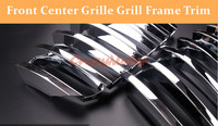 For BMW X4 F26 2014 2015 2016 Chrome Front Center Grille Grill Cover Trim 2pcs