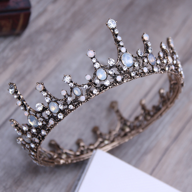 DIEZI Fashion Baroque Luxury Wedding Bridal Crystal Gold Crown Tiaras Diadem Tiaras for Women Bride Hair Accessories недорого