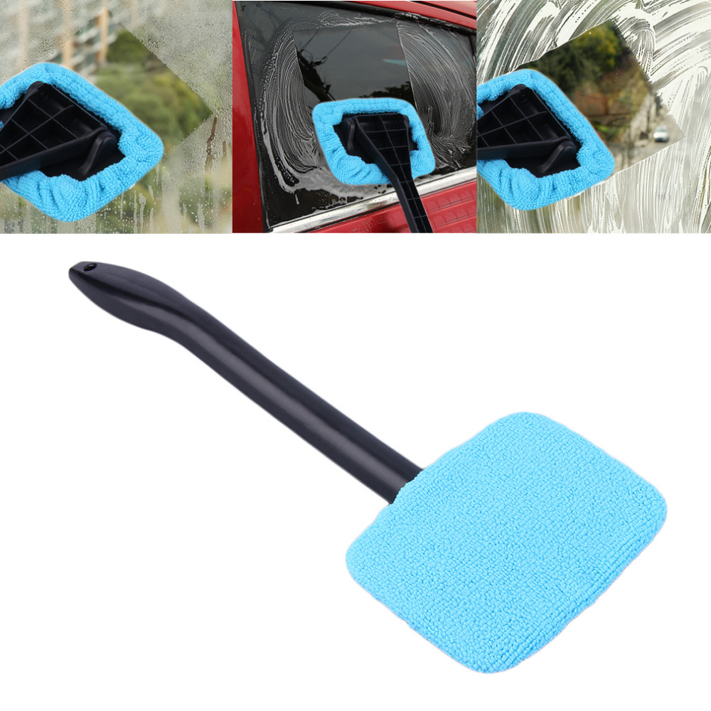 Green blue microfiber long handle car wash brush auto - Best cloth for cleaning windows ...