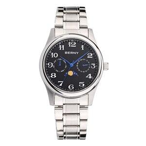 Image 3 - Berny mężczyźni zegarek kwarcowy moda Top luksusowa marka Relogio Saat Montre Horloge Masculino Erkek Hombre japonia ruch 2191M