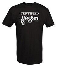 "Black ""Certified Vegan"" men's t-shirt"
