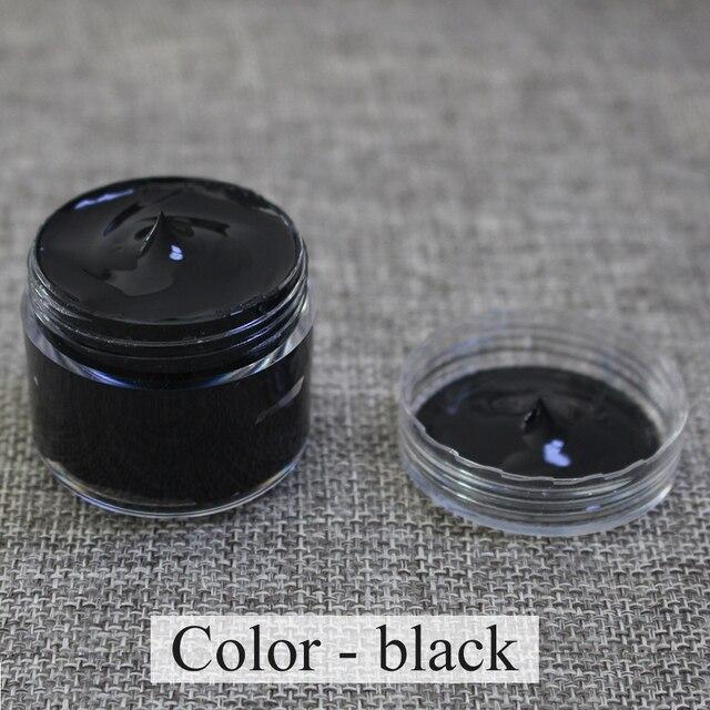좋은 효력을 가진 가죽 소파, 부대, 단화 및 옷 등을 그리기를 위해 특별히 사용되는 30 ml 까만 가죽 페인트