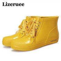 Rain Boots For Men Boy Rubber Ankle Boots Rain Shoes Men Rain Boots Lace Up Men Flat With Ankle Water Botas Shoes ME415