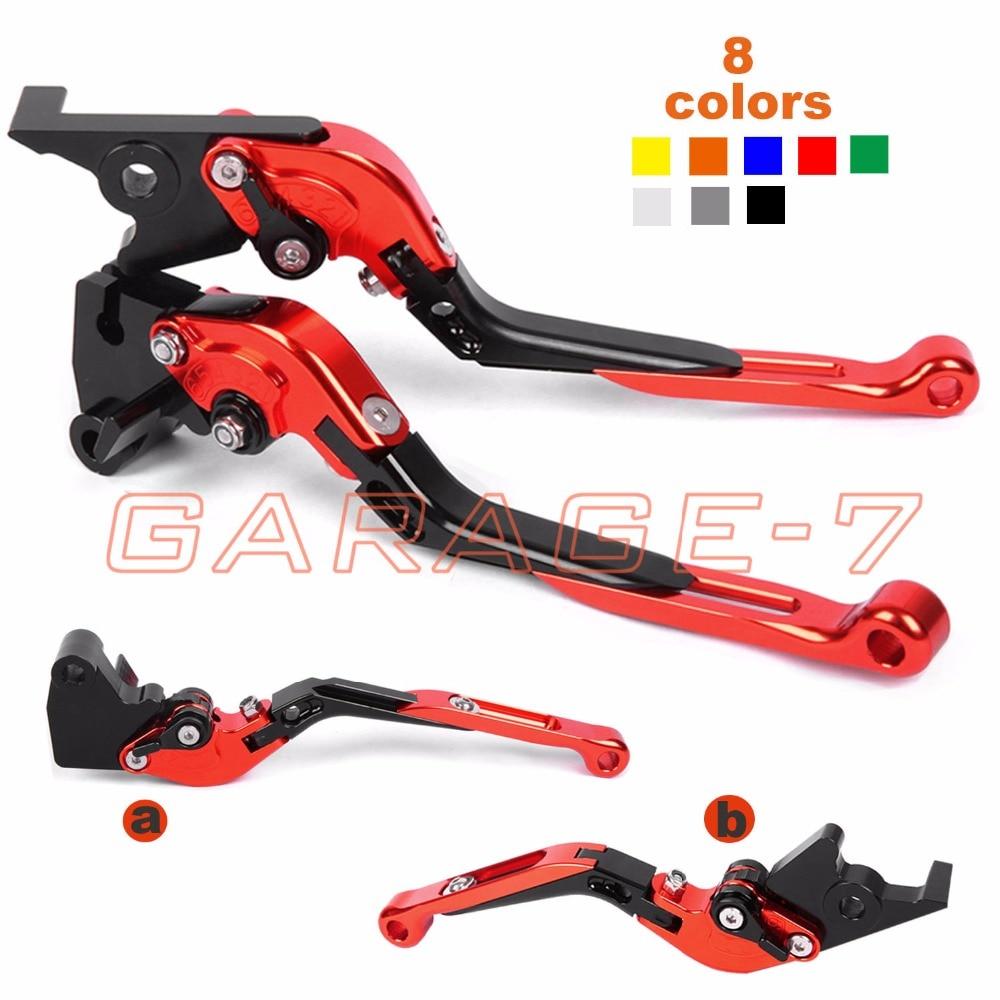 For Honda CBR250R CBR500R CB500F X GROM CBR300R CB300F FA CNC Moto Foldable Extending Brake Clutch Levers Hot Folding Extendable billet new alu long folding adjustable brake clutch levers for honda cbr250r cbr 250 r 11 13 cbr300r 14 cbr500r cb500f x 13 14