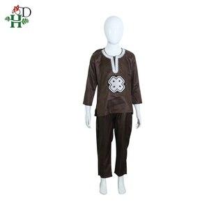 Image 5 - H & D dashiki ebeveyn çocuk seti 2020 afrika çocuk giyim afrika kadınlar anne çocuk giyim nakış gömlek pantolon 2 parça takım elbise