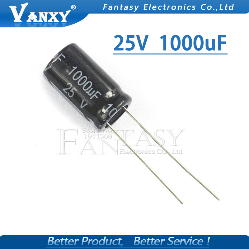 10PCS Higt Quality 25V1000UF 10*17mm 1000UF 25V 17*10 Electrolytic Capacitor