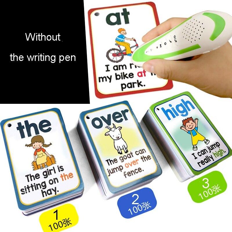 300 pièces/ensemble anglais soupir mots cartes d'apprentissage poche FlashCards éducation d'apprentissage jouets éducatifs éducatifs Montessori - 6