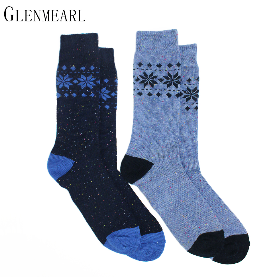 Merino Wool Men Socks Upscale Brand Winter Warm Soft Color Point Jacquard  Coolmax Compression Plus Size - Popular Plus Size Compression Socks-Buy Cheap Plus Size