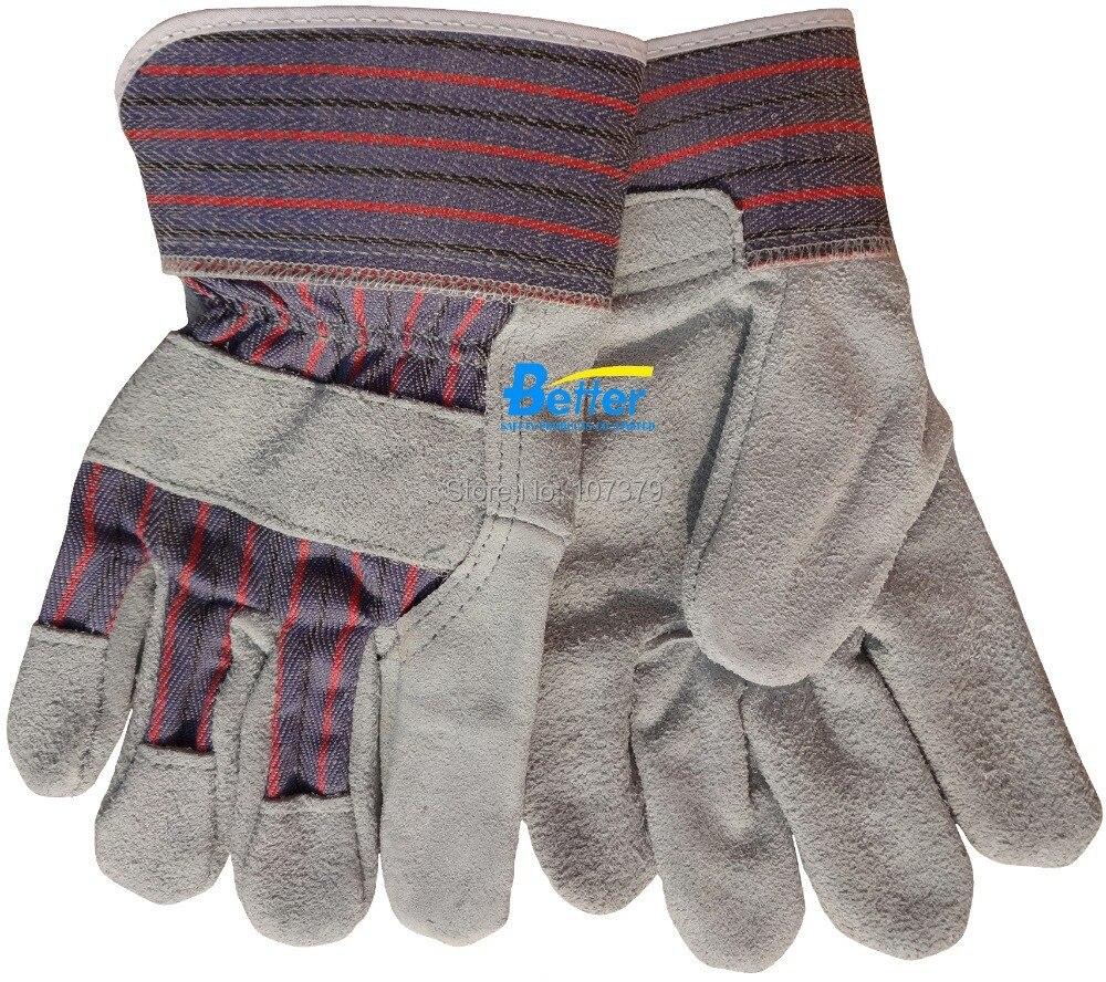 Leather work gloves china - Safety Glove Split Cow Leather Work Glove China Mainland