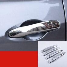 8 шт. ABS Хром Внешний дверные ручки крышки Накладка для Nissan пинает 2016 2017 2018 автомобилей Интимные аксессуары