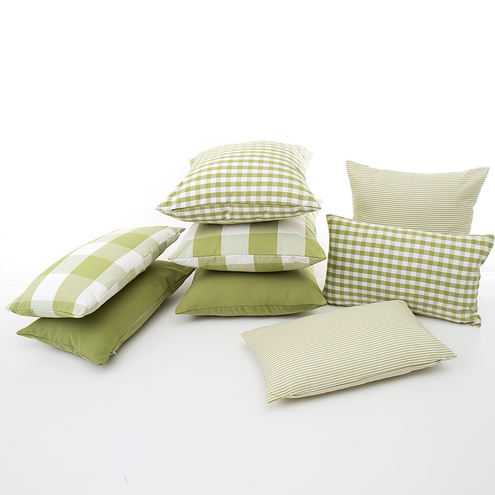 1piece 30cm*50cm Polyester Cotton Rectangular Pillow Cases Plaid Color Bedding Pillow Cove Green Single Sleeping Bed Pillowcase