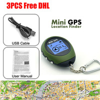 3pcs FreeDHL GPS Tracker Receiver USB Rechargeable with Handheld Compass Rastreador for Outdoor Practical Travel gps tracker Car