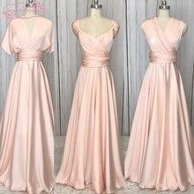 Real Bridesmaid Dresses Convertible A Line Pink Bridesmaid Dress Cheap 2019