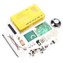 Nova chegada sw am rádio kit eletrônico diy kit de aprendizagem (cor aleatória)