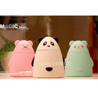 Aroma Diffuser Aromatherapy Air Purifier LED USB Cartoon Panda Humidifier Free Shipping