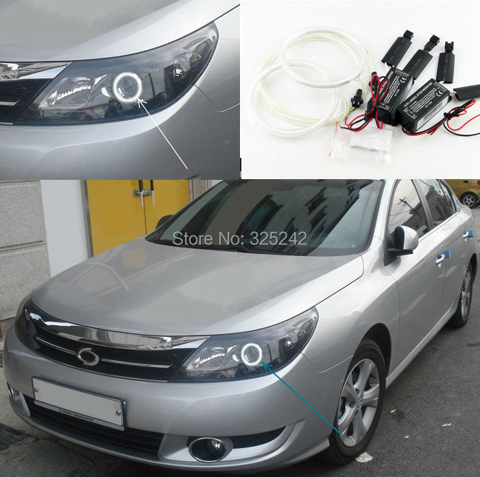ФОТО For Renault Samsung SM5 (L43) 2009-ON Excellent CCFL Angel Eyes Ultrabright headlight illumination Angel Eyes kit Halo Ring