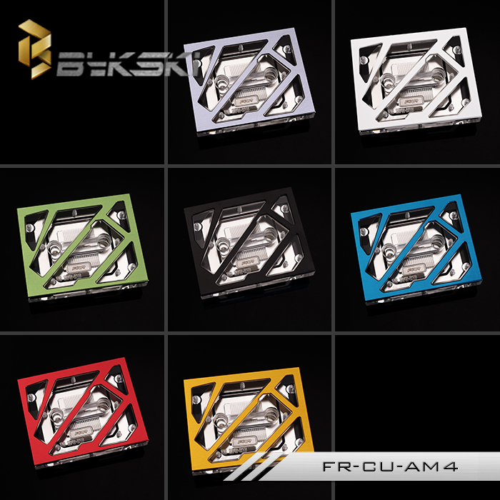 Bykski FOUR FR-CU-AM4 Large Size CPU Water Cooling Block for AMD AM4 Ryzen bykski multicol water cooling block cpu radiator use for amd ryzen am3 am4 acrylic cooler block 0 5mm waterway matel bracket