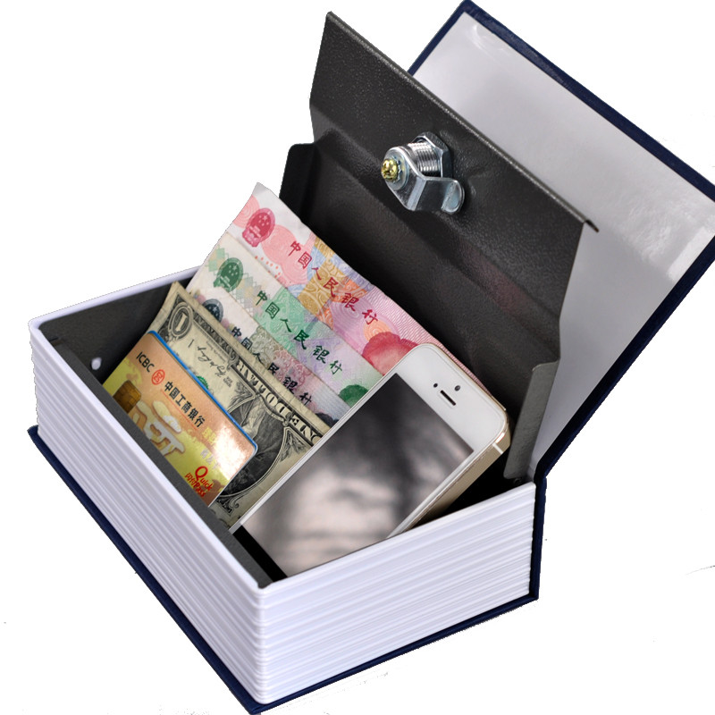 Steel Safe Dictionary Hidden Security Secret Coffer Strongbox Key Lock Safety Box Money Jewelry Storage Case Passward Key Box