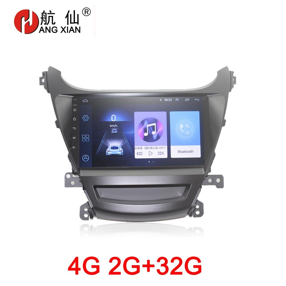 HANG XIAN 2 din Car multimeida for Hyundai Elantra 2014 foreign car dvd GPS video player