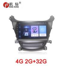 HANG XIAN 2 din coche multimeida para Hyundai Elantra 2014 coche extranjero dvd reproductor de vídeo GPS accesorio para coche con 2G + 32G 4G internet