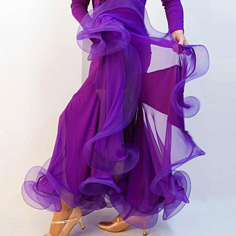 ツ)_/¯Salsa flamenco Ballroom Dance vestido falda flamenco salón de ...