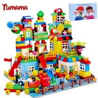 Tumama 210PCS Big Size Building Blocks Compatible With Legoed Duplo Number Train Bricks Kids Gift Educational