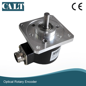 CALT Square flange 15mm shaft angle and speed encoder 1024ppr incremental encoder 5pcs 360 degree rotary encoder ec12 e12 audio encoder coding 3pin handle long 15mm