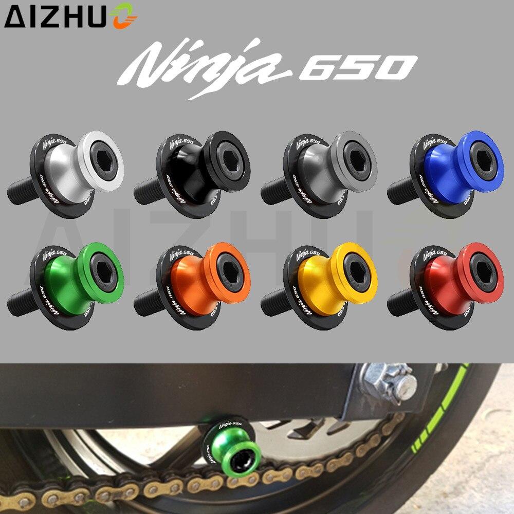 Для ниндзя Kawasaki Ninja650 650 мотоцикл аксессуары маятник катушки слайдер 10 мм с Ninja 650 логотип ЧПУ алюминиевая подставка винт
