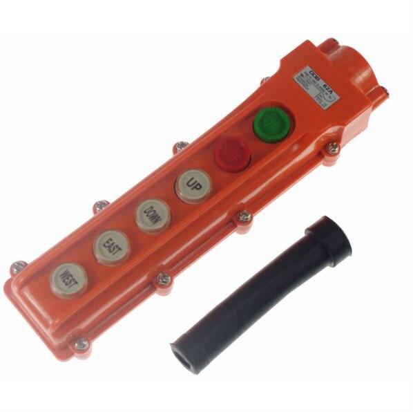 COB-62A For Hoist And Crane Pendant Control Station Push Button Switch 6 Ways