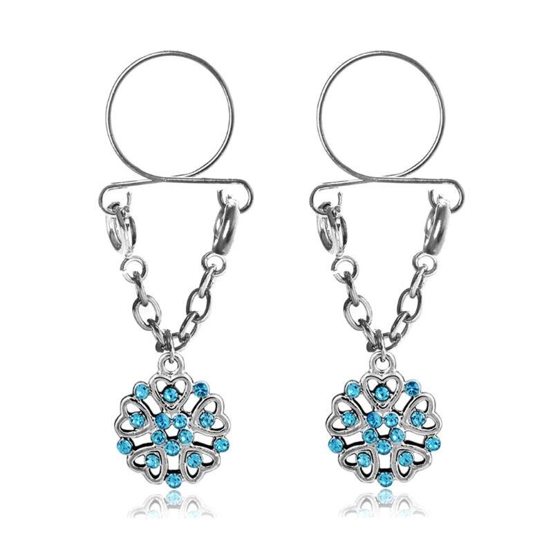 Aliexpresscom  Buy 2Pcs Non Pierced Body Jewelry Nipple -6272