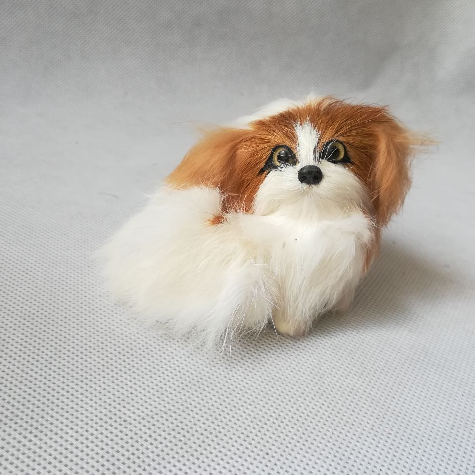 Toys & Hobbies Rapture Real Life Toy Puppy Model Pekingese Dog Mini 8x6cm Hard Model Home Decoration Baby Toy Gift H1484