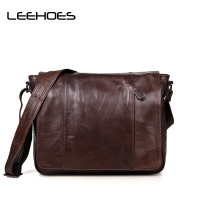 Fashion Men's Shoulder Bags Genuine Leather Business Travel Casual Messenger Bag Handbags Cross Body School Bags Man Clutch Bag