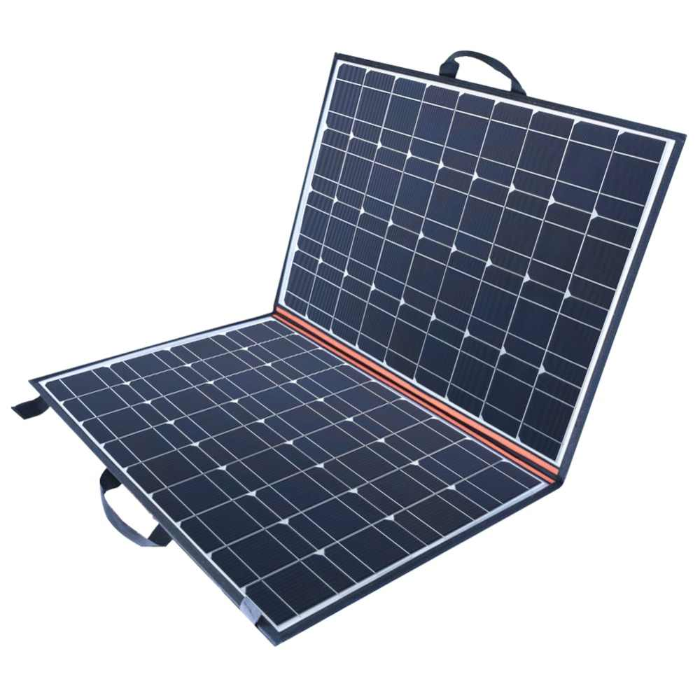 New 120W (2 PCS *60W)  Watt Foldable Black solar panel charger China mono cell PV Module 10A controller solar blanket charging