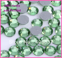 Free Shipping! 1440pcs/Lot, ss6 (1.9-2.1mm) High Quality DMC Peridot Iron On Rhinestones / Hot fix Rhinestones