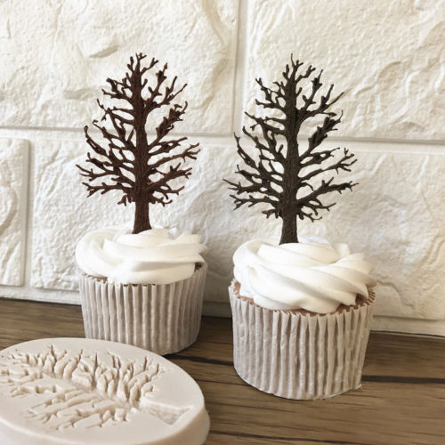 Useful 3D Tree Silicone Fondant Chocolate Cupcake Cake Decorating Baking Mould DIY Mold