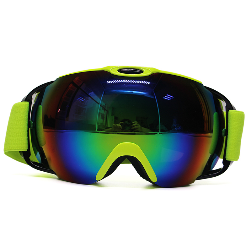 Dropshipping New brand breathable snow goggles anti-fog big spherical professional women multi color skiing goggles for mens