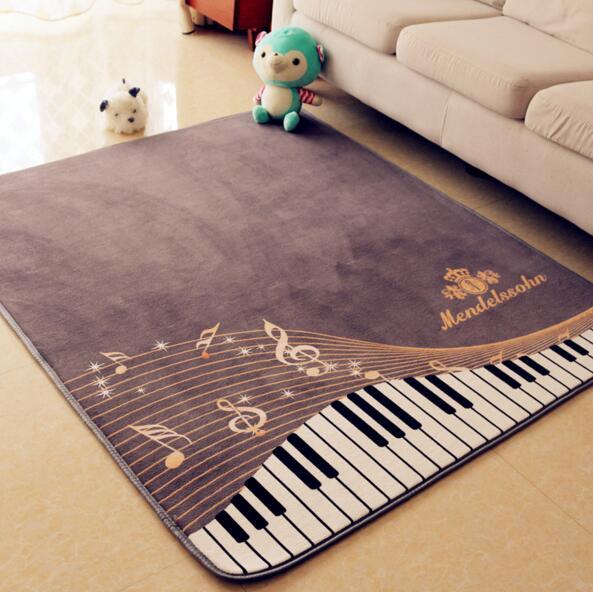 130*150 cm grande taille tapis de salon antidérapant Piano clé tapis garçon fille couloir chambre tapis pour piano salon salle de bain tapis