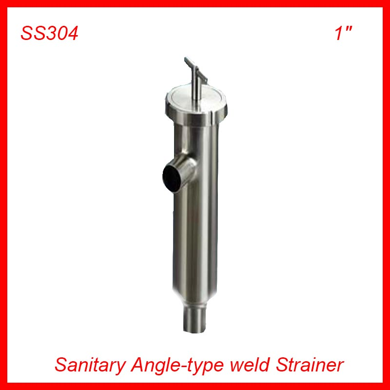 1'' Sanitary Stainless Steel SS304 Angle-type Filter Strainer Filter f Beer/ dairy/ pharmaceutical/beverag /chemical industry 1 5 hygienic stainless steel ss304 inline straight strainer filter f beer dairy pharmaceutical beverag chemical industry