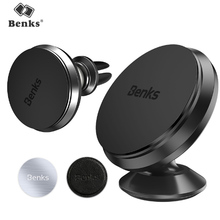 Benks Magnetic Aluminum Alloy Car Universal Bracket For iPhone iPad Samsung Xiaomi Huawei Air Vent Mount Stand Auto Phone Holder(China)