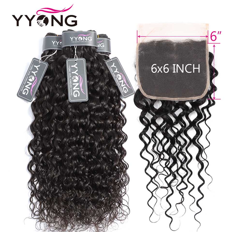 water wave bundles with 6-6 lace closure