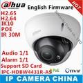 Chegada nova dahua ipc-hdbw4431r-as substituir ipc-hdbw4421r-as 4mp câmera ip com poe ik10 ip67 slot sd de áudio de 1/1 canais em/fora