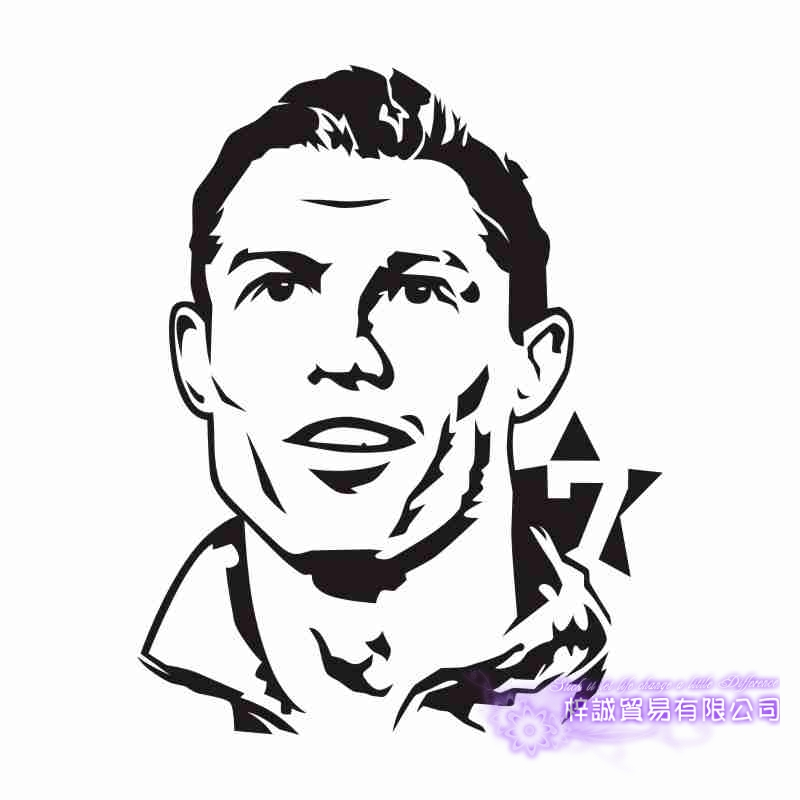 Cristiano Ronaldo Football Player Sticker Sports Soccer Car Decal Helmets Kids Room Posters Vinyl Wall Decals Wall Stickers Aliexpress
