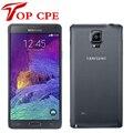 100% teléfono celular abierto original samsung galaxy note 4 n910f 16MP Cámara 3 GB RAM 32 GB ROM 3G/4G 5.7 ''Táctil Reformado teléfono