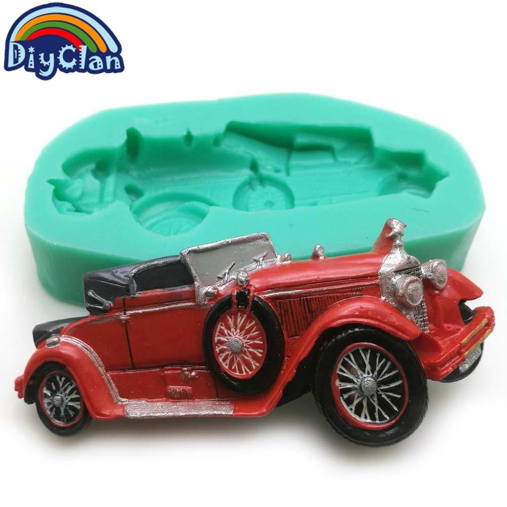 New 10 style Vintage car silicone fondant molds cake decorating ...
