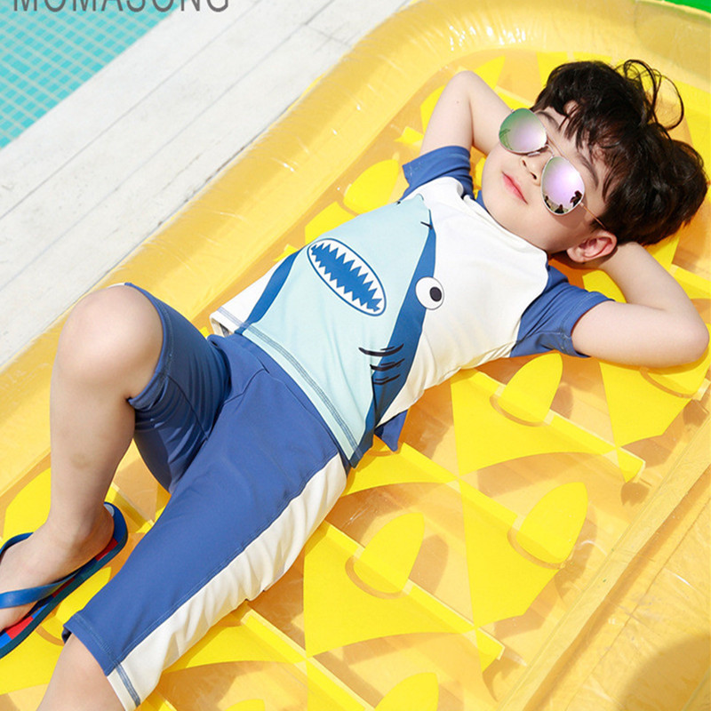 Shark baby Costumes Anime Boys swimwear Childrens swimwear beach sun protection clothing Summer seaside swimming pool clothing