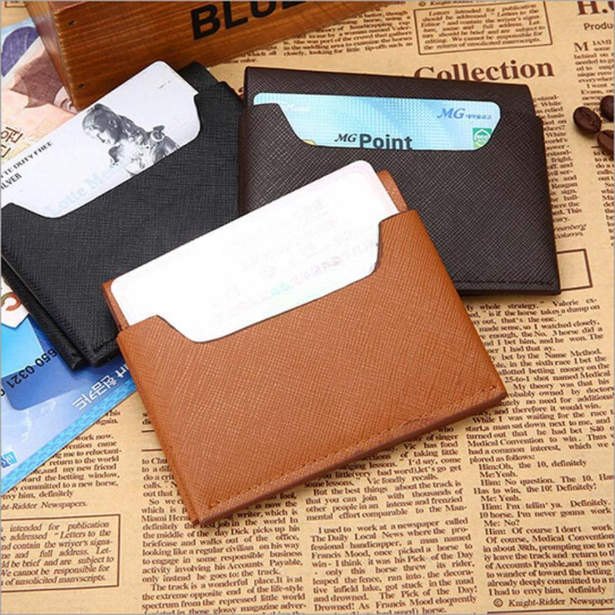 Men Leather Card Cash Receipt Holder Organizer Bifold Wallet Purse ...