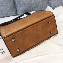 Fashion PU Leather Handbags Women Tassel Casual Tote Bags Oil Leather Vintage Women Handbags Ladies Crossbody Bags For Women