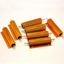 RX24-100W Gold Aluminum Resistor 5R 5 Euro Heat Dissipation High Power Resistor